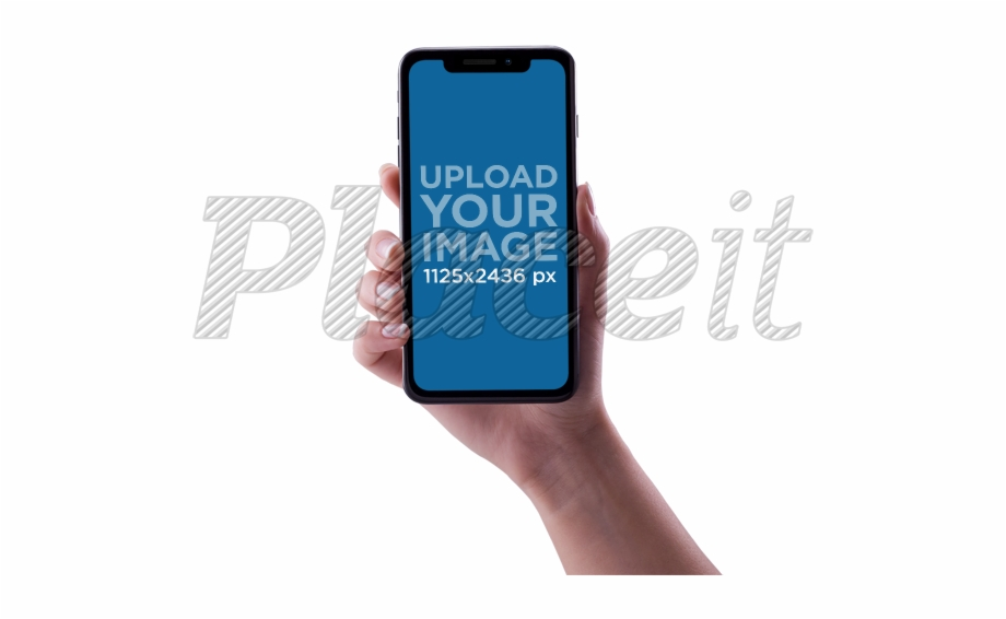 Hand holding iphone x clipart vector transparent Placeit Woman An - Hand Holding Iphone X Free PNG Images & Clipart ... vector transparent
