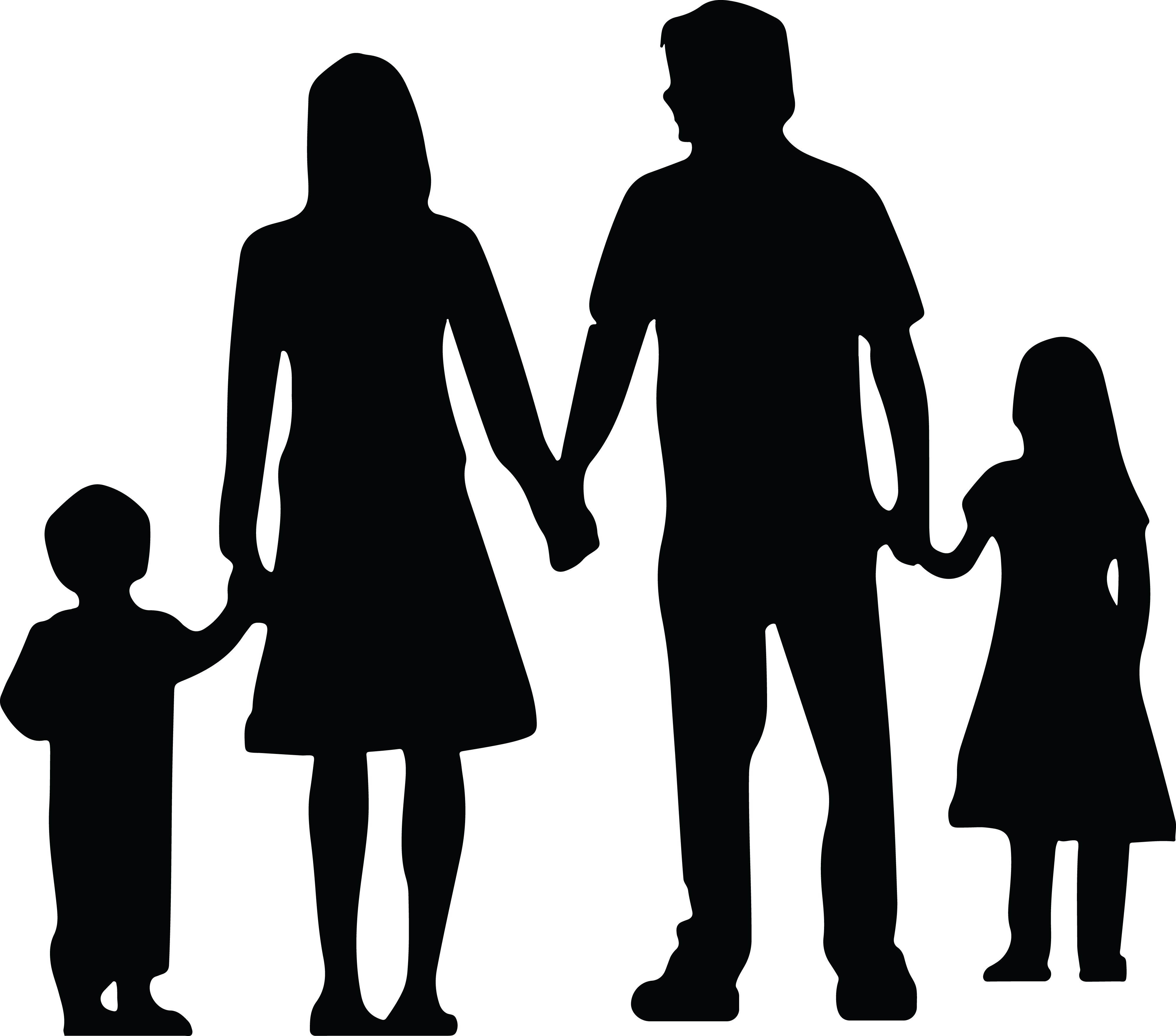 Hand in hand clipart vector transparent stock Silhouette People Holding Hands at GetDrawings.com | Free for ... vector transparent stock
