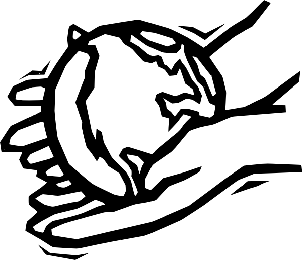 Cross and praying hands clipart jpg freeuse stock World In Hands Clipart - Clipart Kid jpg freeuse stock