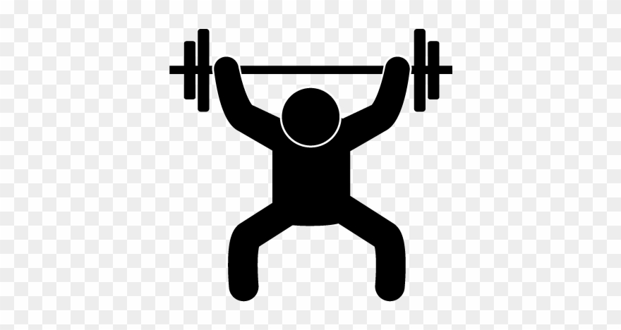 Hand lifting weights clipart black and white banner transparent download Weightlifting - Free Material - Pictogram - Lifting Weight Icon ... banner transparent download