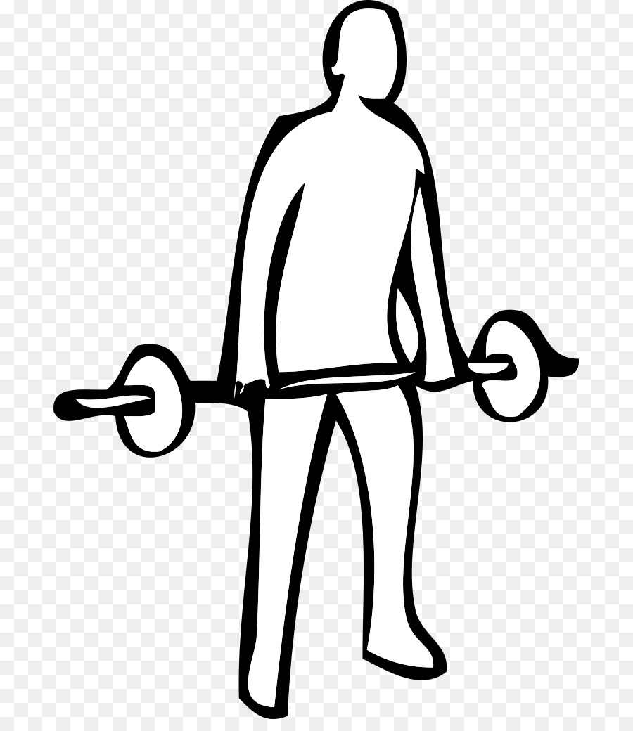 Hand lifting weights clipart black and white svg black and white Man Cartoon clipart - Drawing, Exercise, White, transparent clip art svg black and white