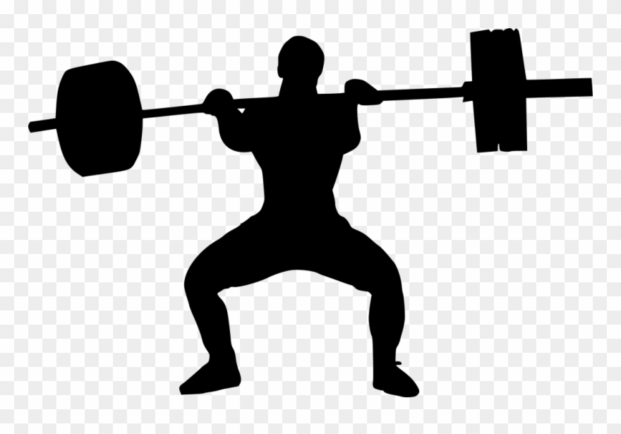 Hand lifting weights clipart black and white picture freeuse stock Clip Art Black And White Download Weight Lifter Silhouette ... picture freeuse stock