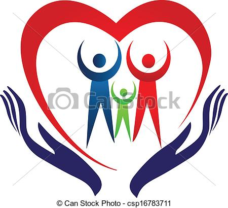 Hand logo clipart picture free download Vector Clip Art of Family care hands and heart logo - Hands care ... picture free download
