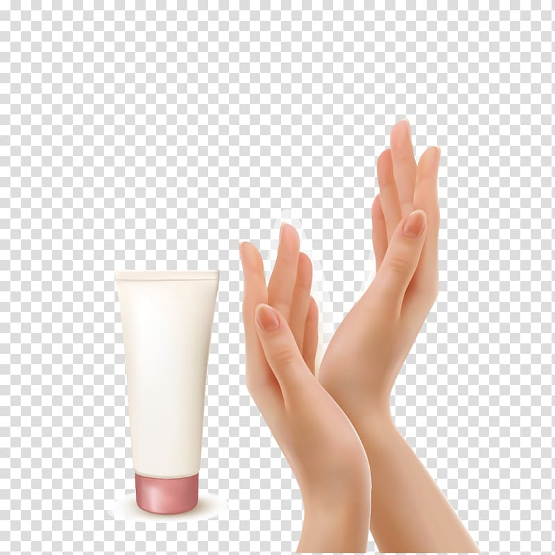 Hand lotion clipart image freeuse Person applying lotion on hands illustration, Lotion Cream , hand ... image freeuse