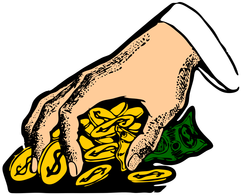 Hand with money clipart clipart black and white Public Domain Clip Art Image | money grabber | ID: 13925322617102 ... clipart black and white