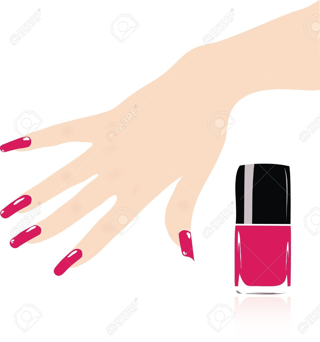 Hand nail clipart vector royalty free Hand nail clipart » Clipart Portal vector royalty free
