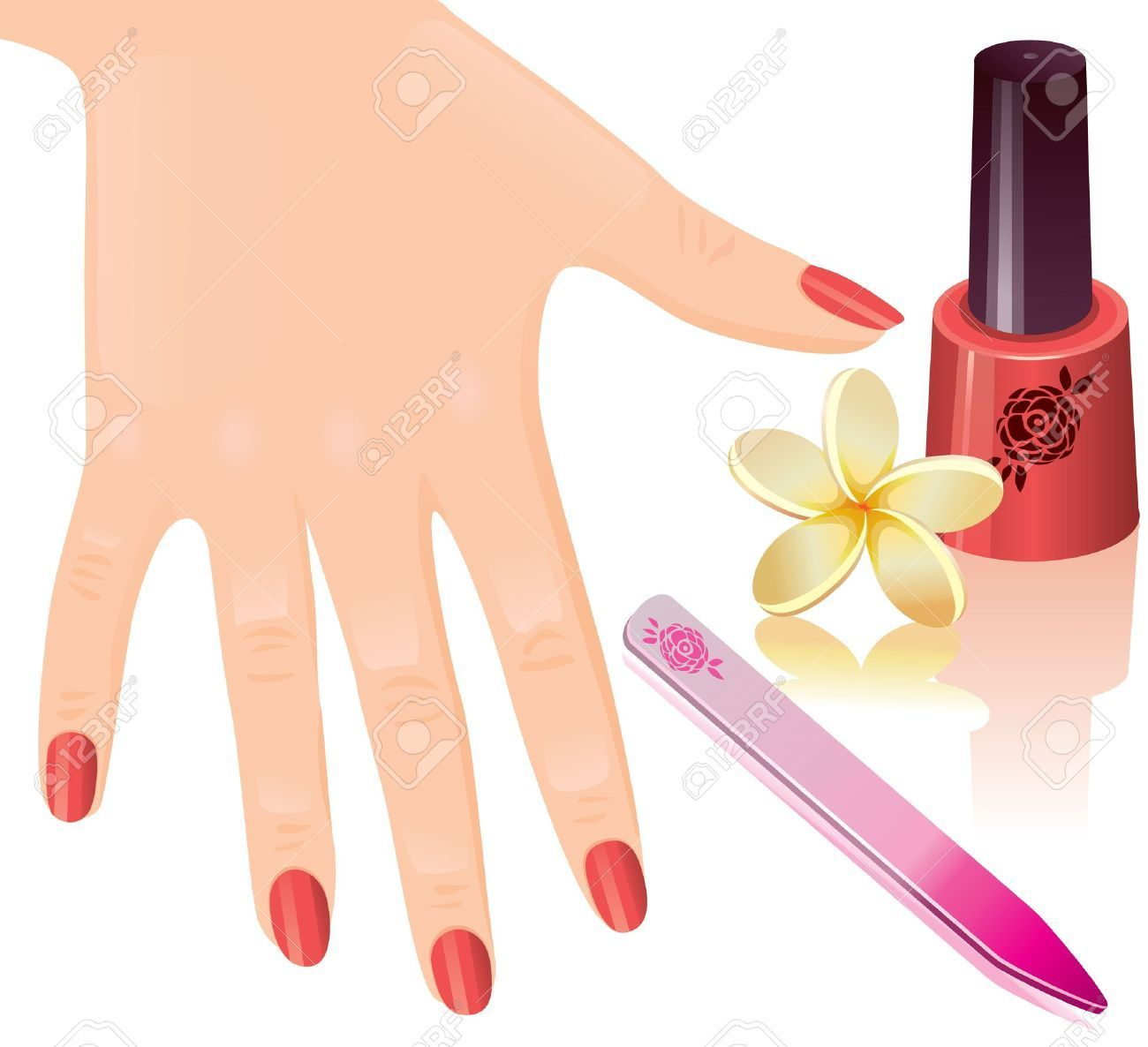 Hand nail clipart clipart library download Finger Clipart Hand Nail Pencil And In Color Art - NailsStock clipart library download