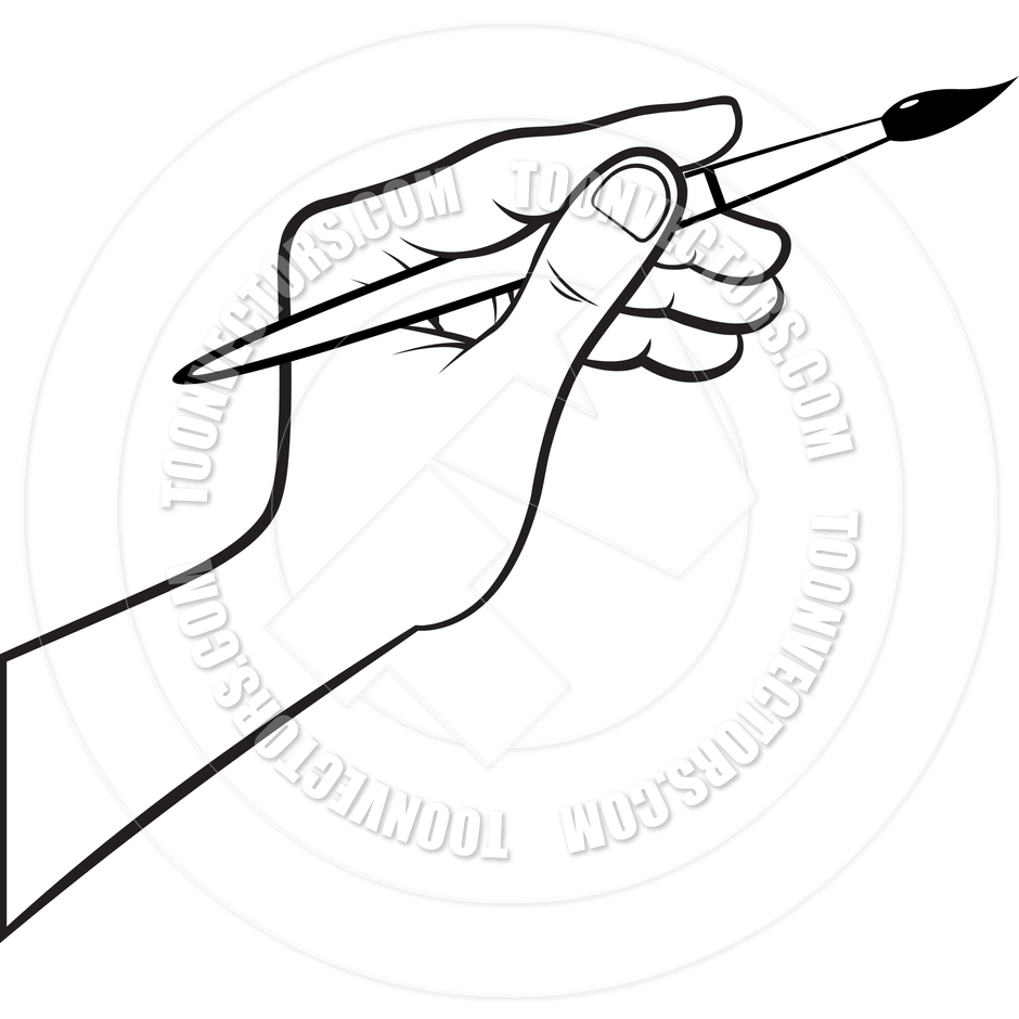 Hand painting clipart picture free download Painting Clipart Black And White | Free download best Painting ... picture free download