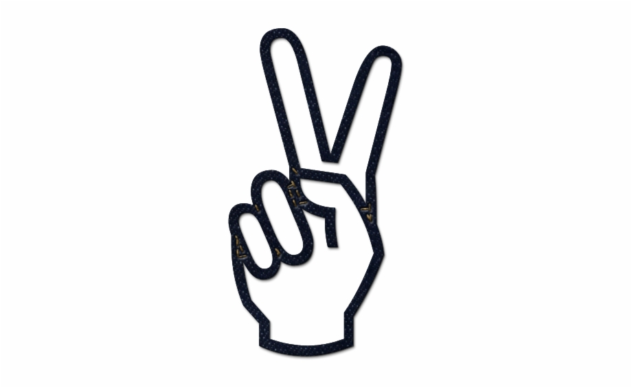 Hand peace sign clipart with no background svg freeuse download Peace Hand Symbol - Transparent Peace Sign Hand Free PNG Images ... svg freeuse download