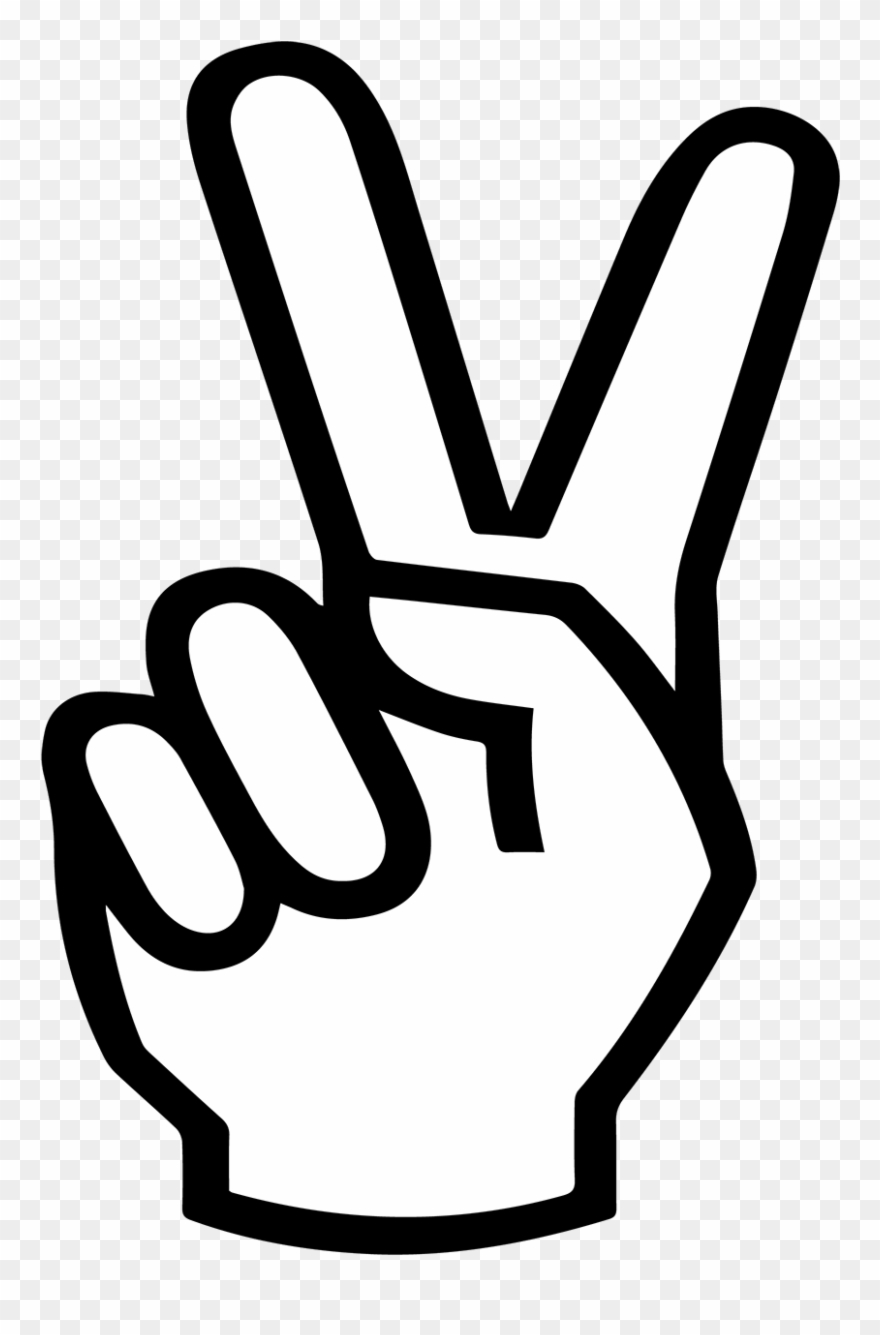Hand peace sign clipart with no background jpg download Peace Sign Hand Svg , Png Download - Transparent Peace Sign Hand ... jpg download