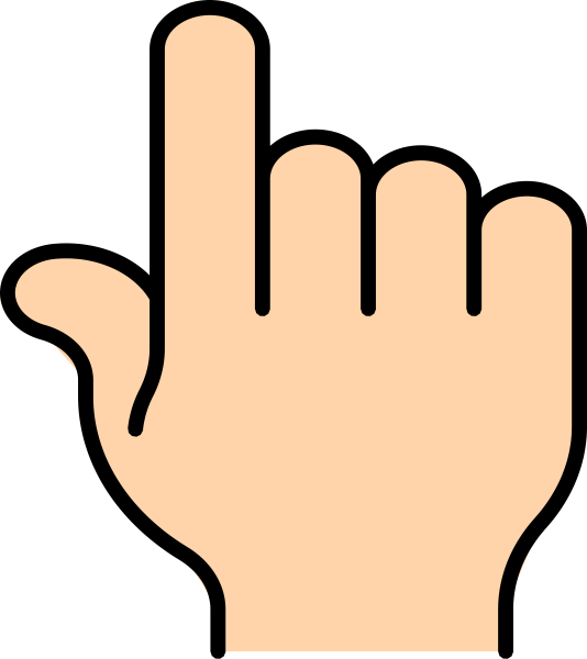 Finger clip art at. Clipart pointer