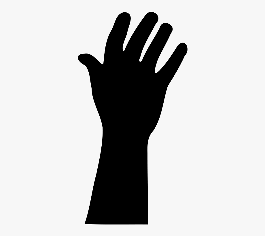 Hand reaching for something clipart jpg library library Raised Hand In Silhouette Clip Art Download - Reaching Hand ... jpg library library