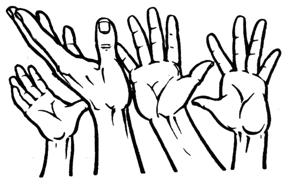 Whimsical open hands clipart vector black and white Free Reaching Hand Clipart, Download Free Clip Art, Free Clip Art on ... vector black and white