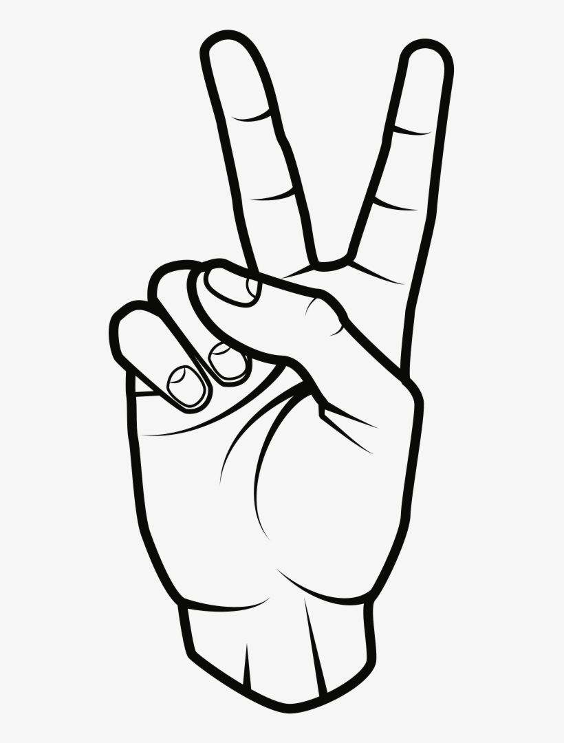Hand signal clipart free banner free stock Peace Sign - Hand Peace Sign Clipart - Free Transparent PNG Download ... banner free stock