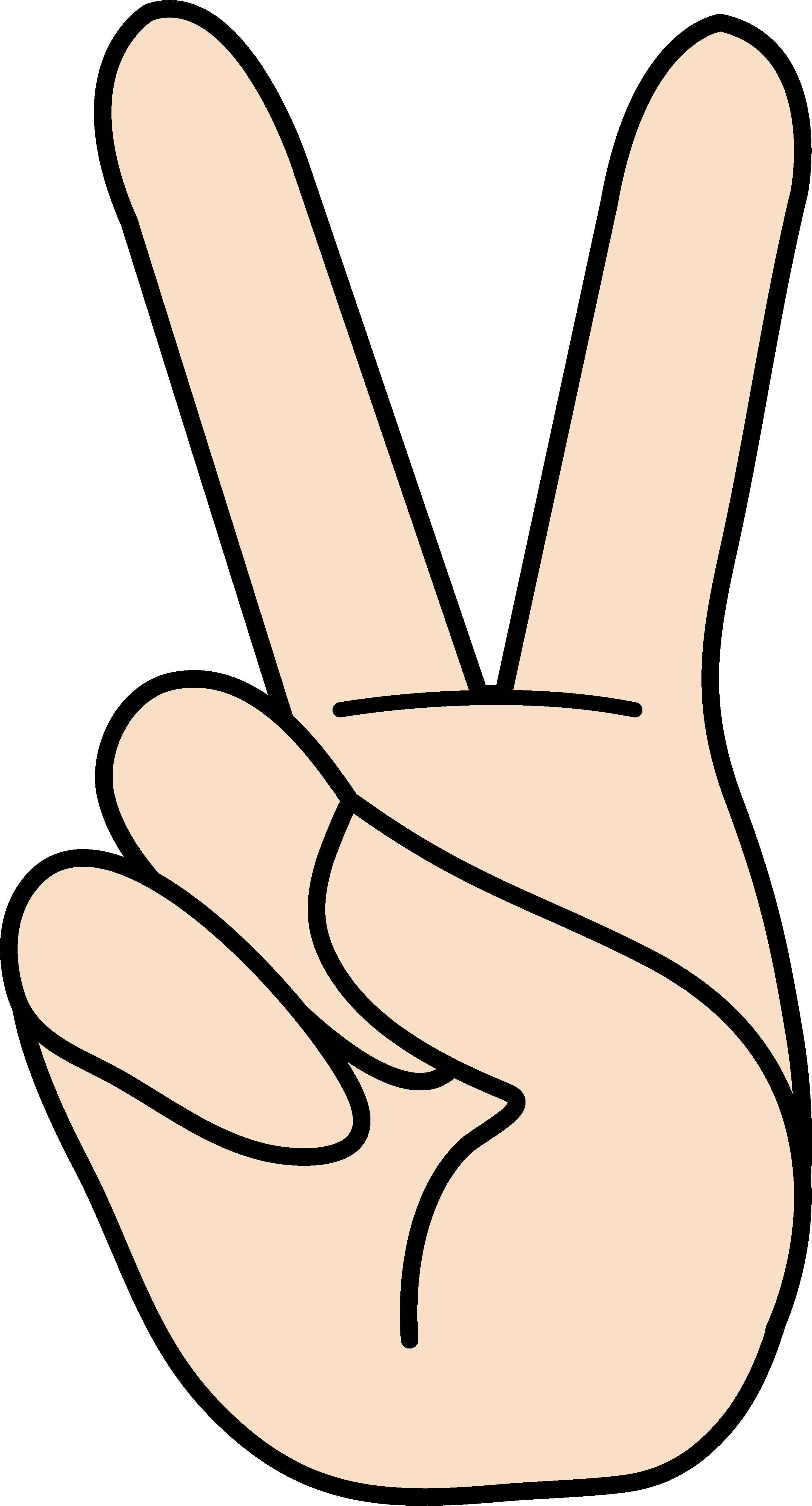 Hand signal clipart free png black and white library Peace Hand Sign Clipart - Free Clip Art png black and white library