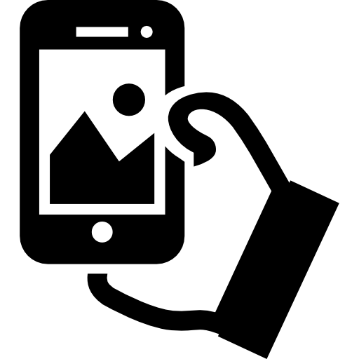 Hand taking a cellphone pic clipart graphic freeuse library Hand holding cellphone to take a selfie Icons | Free Download graphic freeuse library