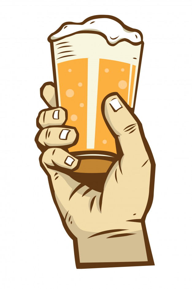 Hand up beer pint clipart graphic free download Hand holding beer 2 Vector | Premium Download graphic free download