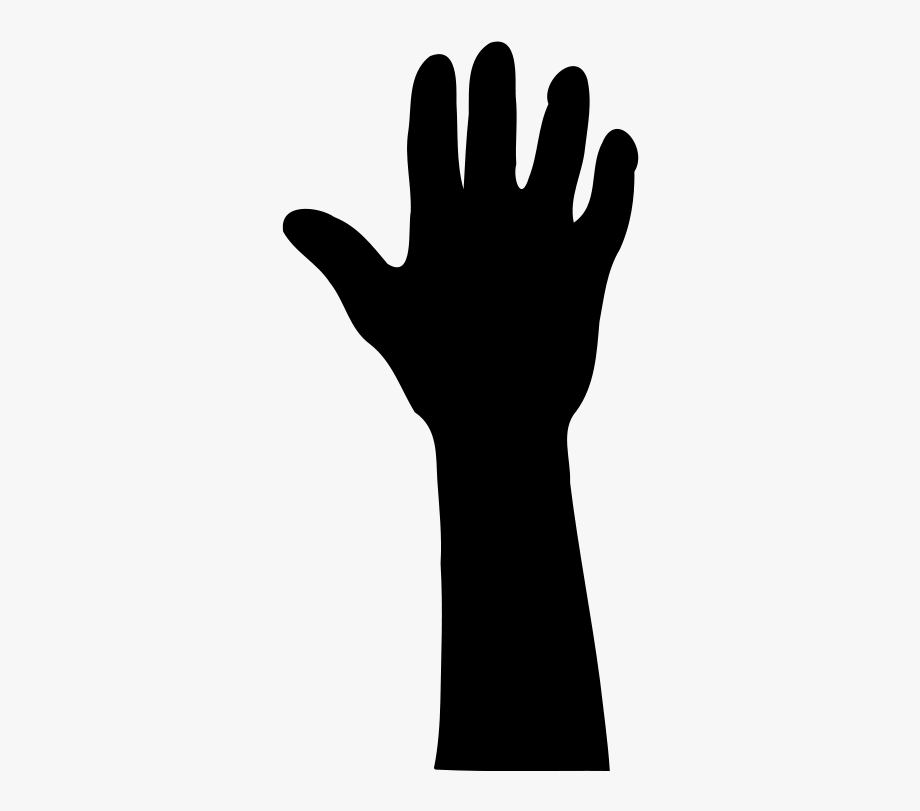 Hands up clipart picture free Hands Up Silhouette At - Clip Art Raised Hand Clipart , Transparent ... picture free