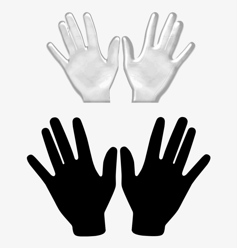 Hand vector clipart vector black and white Free Hands Vector, Free Vector Hand, Illustration Vector - Two Hands ... vector black and white