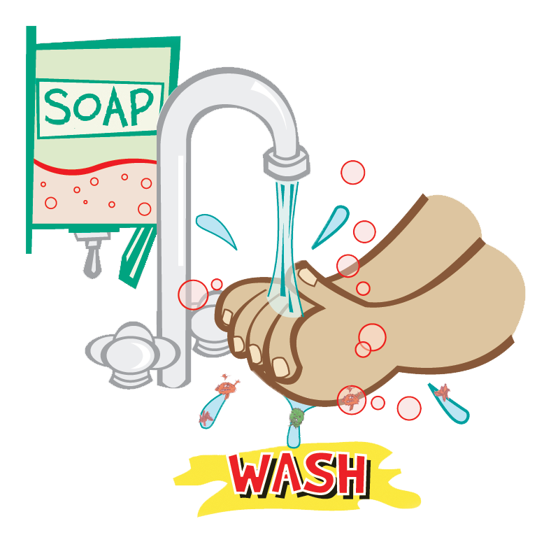 Hand washing clipart banner transparent stock Washing Hands Clipart - Clipart Kid banner transparent stock