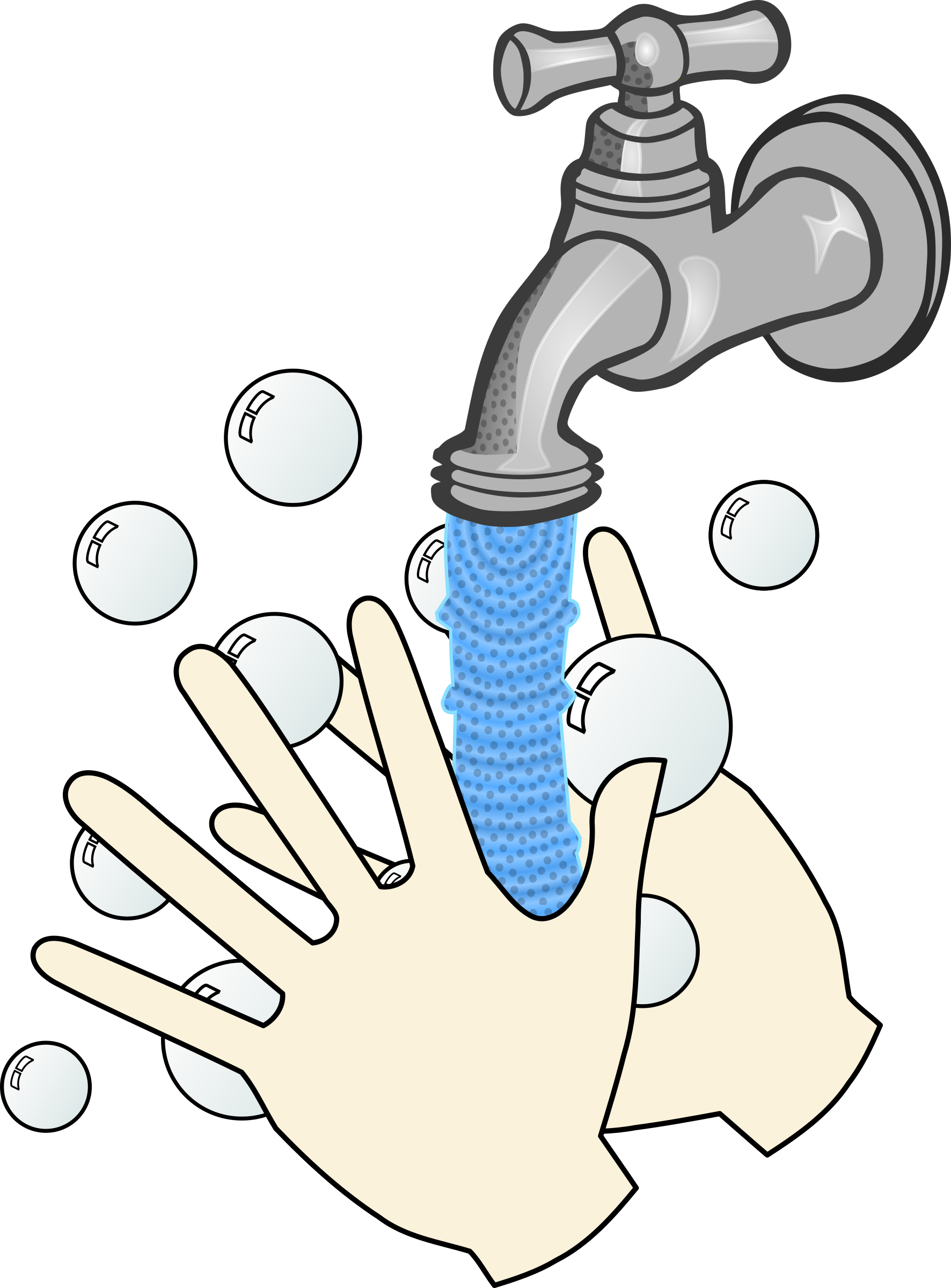 Hand washing clipart transparent download Clipart - washing hands with soap and running water transparent download
