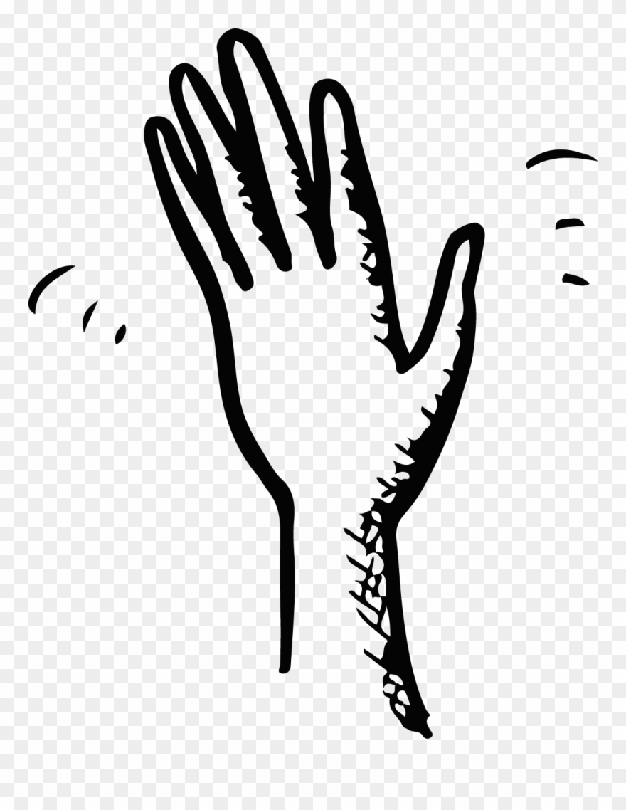 Hand waving goodbye clipart black and white graphic transparent stock Hand Wave Black And - Drawing Of A Hand Waving Clipart (#558349 ... graphic transparent stock