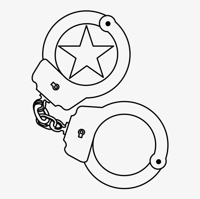 Handcuffs clipart black and white graphic free stock Handcuffs Computer Icons Police Officer - Handcuff Clipart Black And ... graphic free stock