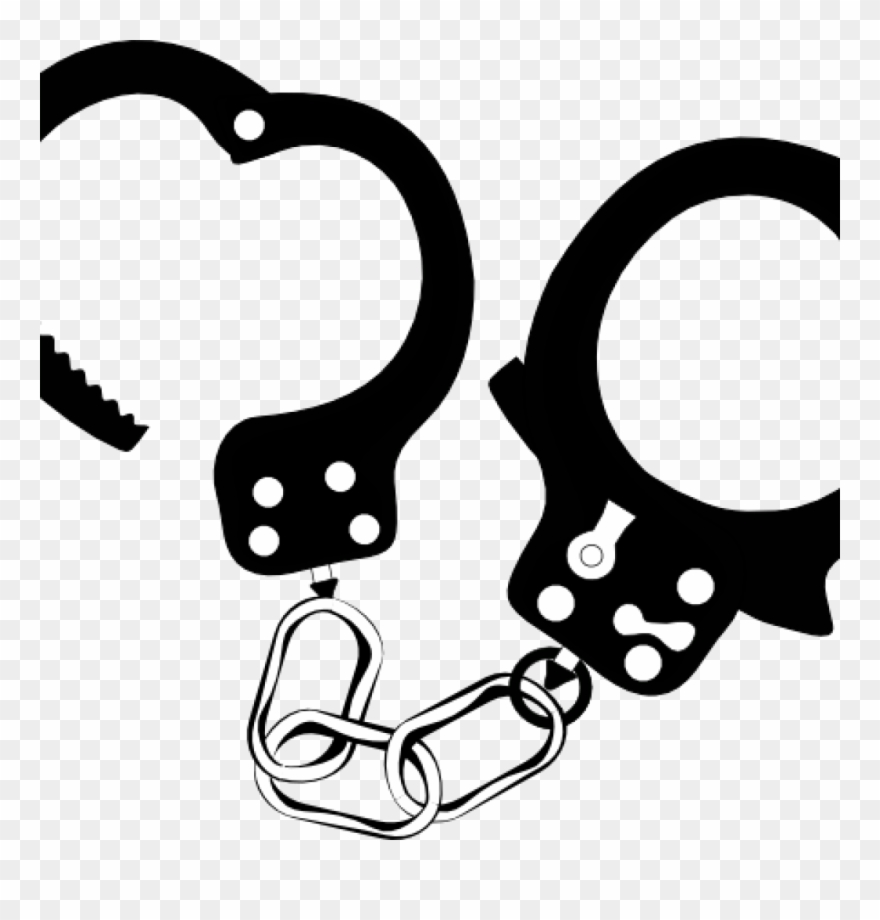 Handcuffs clipart black and white vector freeuse library Handcuff Clipart Handcuffs Black And White Clip Art - Png Download ... vector freeuse library