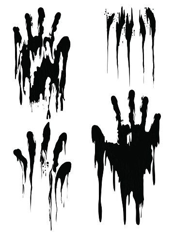 Handprint set clipart image black and white library Black Handprint Set Isolated ON White premium clipart - ClipartLogo.com image black and white library
