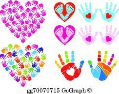 Handprint set clipart svg royalty free download Hand Print Clip Art - Royalty Free - GoGraph svg royalty free download