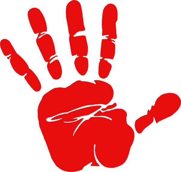 Handprint turkey clipart clipart royalty free library Red Hand Print Clip Art | Clipart Panda - Free Clipart Images clipart royalty free library