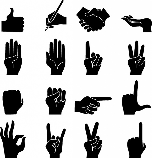 Hands 1 2 3 clipart silhouette clip art black and white download Hand vector free vector download (4,107 Free vector) for ... clip art black and white download