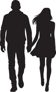Hands 1 2 3 clipart silhouette jpg library stock Man And Woman Silhouette Clip Art | Couple Clipart Image ... jpg library stock