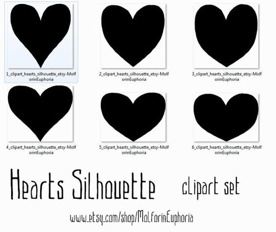 Hands 1 2 3 clipart silhouette jpg freeuse stock Heart silhouette clipart, SVD clip art, St Valentine ' s day ... jpg freeuse stock
