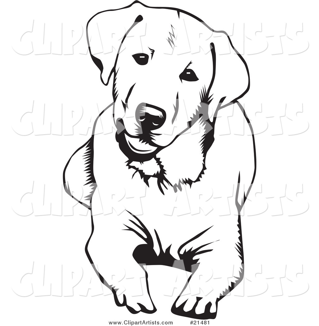 Hands 1 2 3 clipart silhouette color picture freeuse library yellow lab silhouette | Labrador Retriever Art Block (versi on 2 ... picture freeuse library