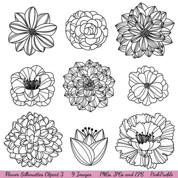 Hands 1 2 3 clipart silhouette color jpg free library 17 Best ideas about Flower Silhouette on Pinterest | Stencils ... jpg free library