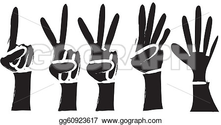 Hands 1 2 3 clipart silhouette color svg library library Hands 1 2 3 clipart silhouette color - ClipartFest svg library library
