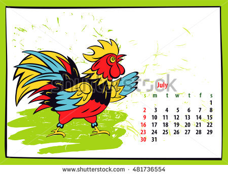 Hands 1 2 3 clipart silhouette colorful picture transparent download Calendar 2017 Chinese New Year Rooster Stock Vector 456013192 ... picture transparent download