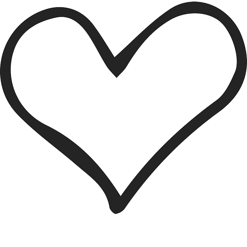 Hands around heart clipart clip art black and white library Hand Sketched Heart Stamp | Heart Stamps – Stamptopia clip art black and white library