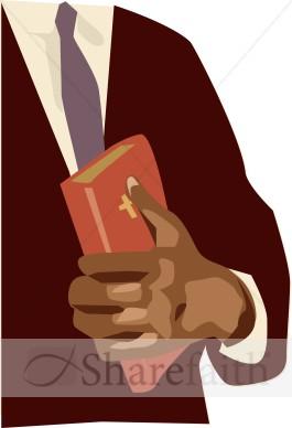 Hands holding bible clipart image transparent Man Holding Bible to His Chest   Clergy Clipart image transparent