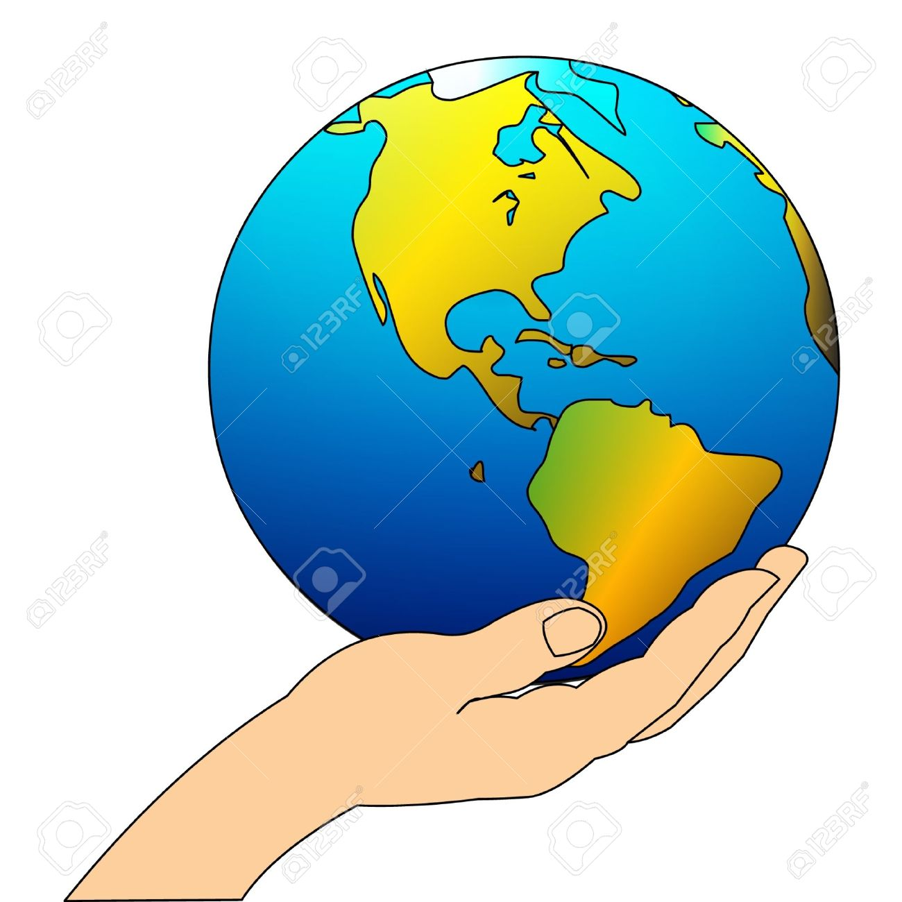 Hands holding earth clipart freeuse Hand Holding Earth Drawing | Free download best Hand Holding Earth ... freeuse