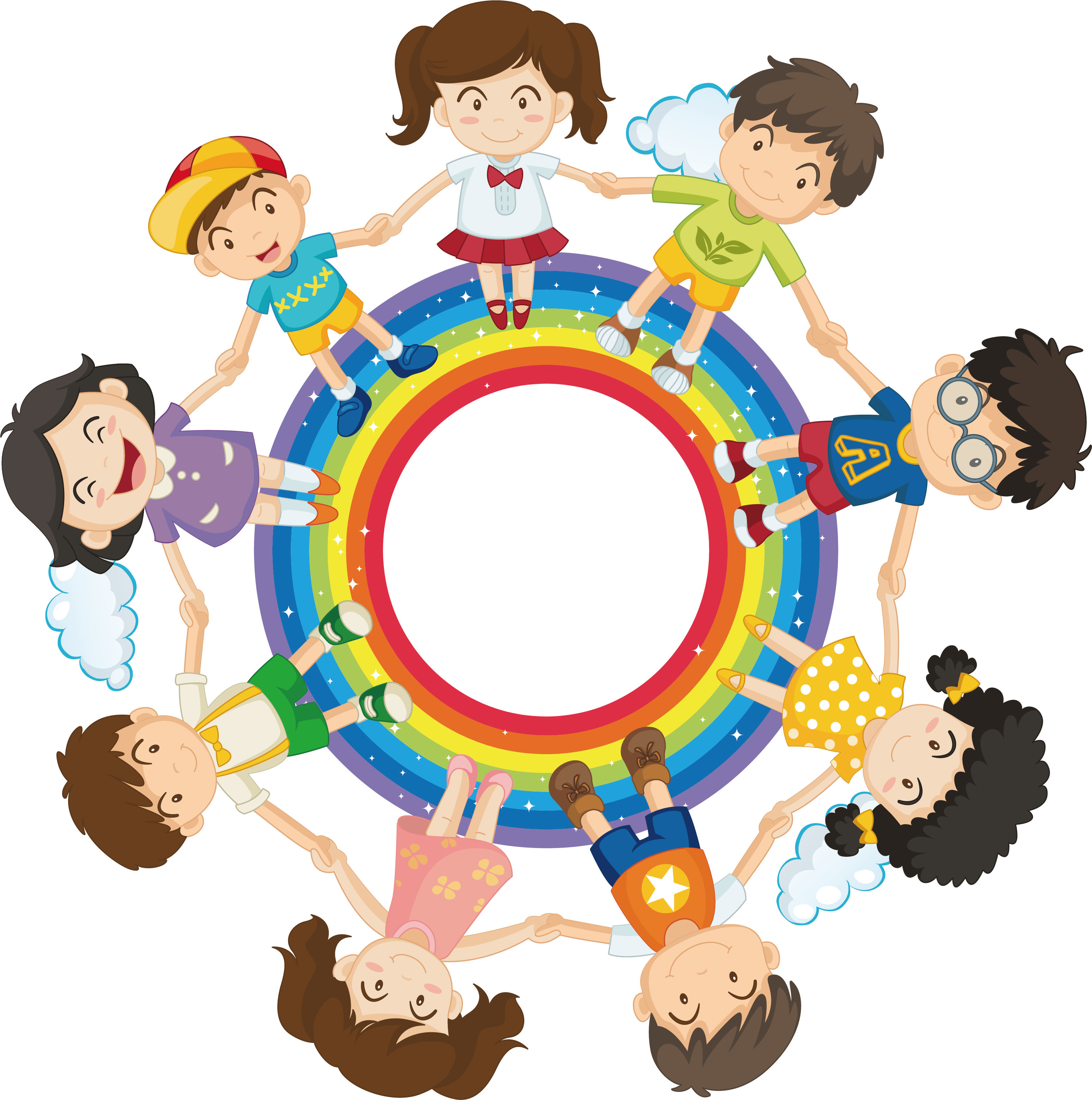 Hands holding football clipart banner transparent stock Royalty-free Child Clip art - Rainbow child with hand in hand 3095 ... banner transparent stock