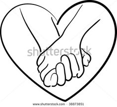 Hands holding heart clipart black and white image free library Holding Hands Clipart   Free download best Holding Hands Clipart on ... image free library
