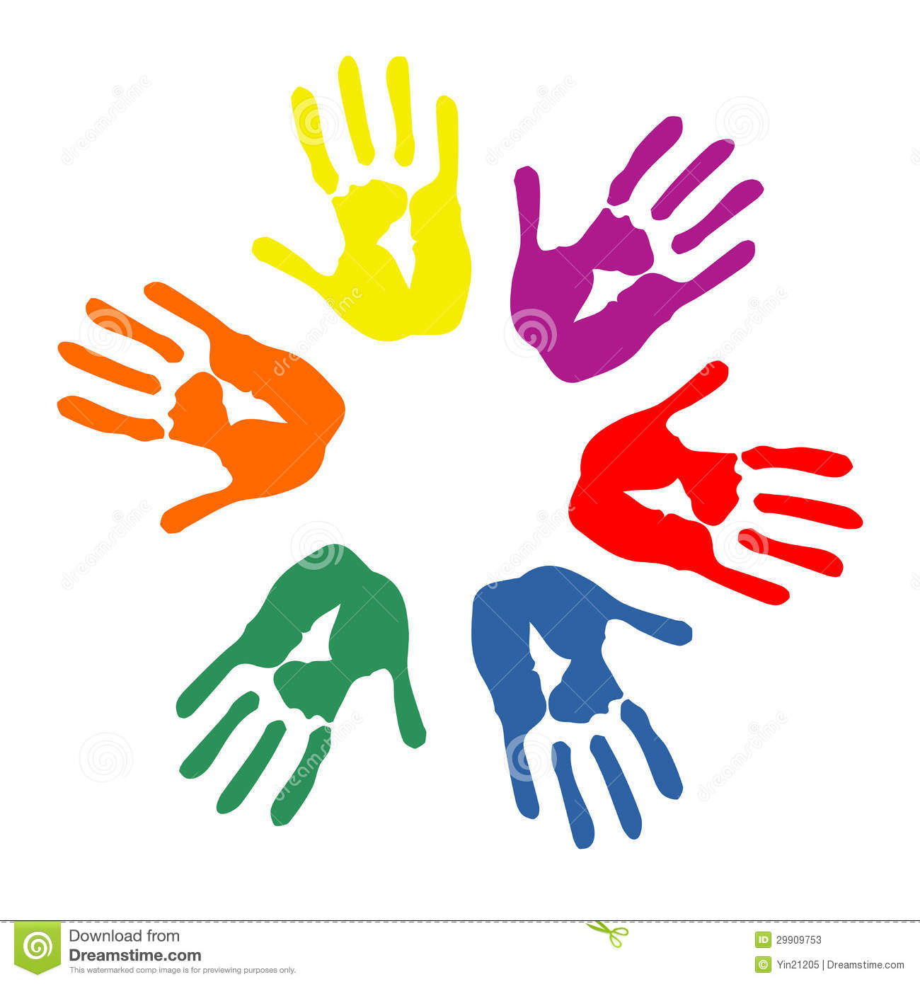 Hands in circle clipart jpg royalty free Colorful hand prints circle | Clipart Panda - Free Clipart Images jpg royalty free