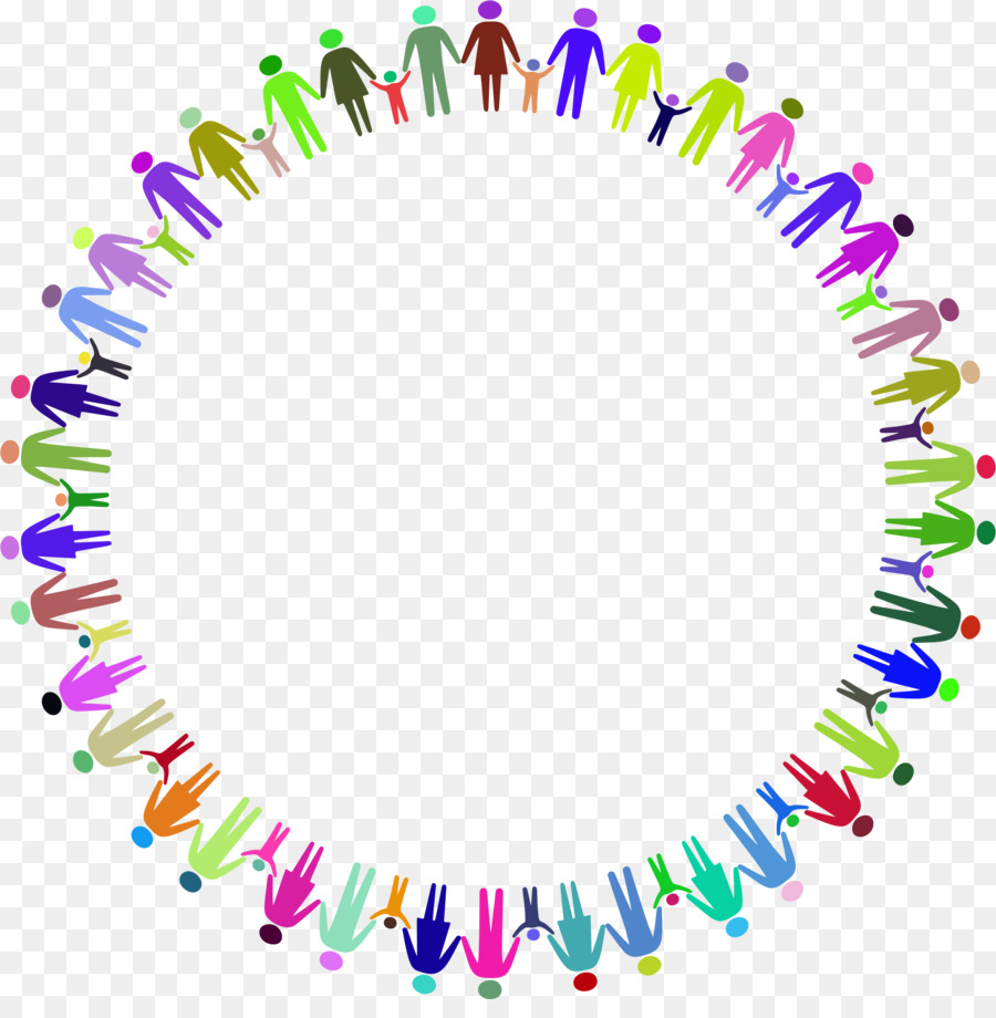 Hands in circle clipart