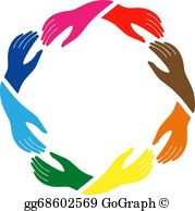 Hands in circle clipart vector stock Holding Hands Circle Clip Art - Royalty Free - GoGraph vector stock