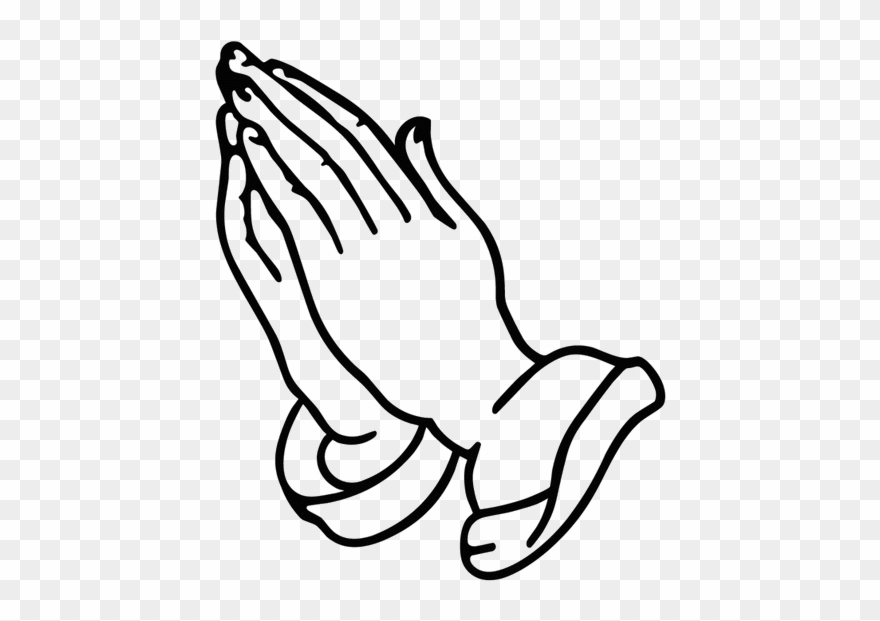 Hands in prayer with cross clipart png banner black and white stock Cross With Praying Clipart Black And White - Hands Praying - Png ... banner black and white stock
