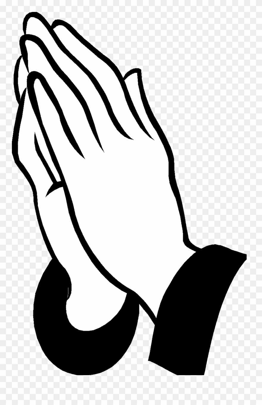 Hands in prayer with cross clipart png vector download Graphic Black And White Stock Cross And Praying Hands - Clip Art ... vector download