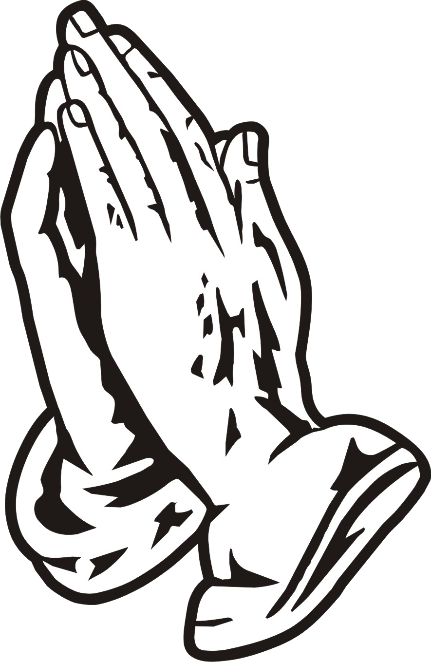 Hands in prayer with cross clipart png vector transparent download Praying Hands Black Clipart Free Images Transparent Png - AZPng vector transparent download