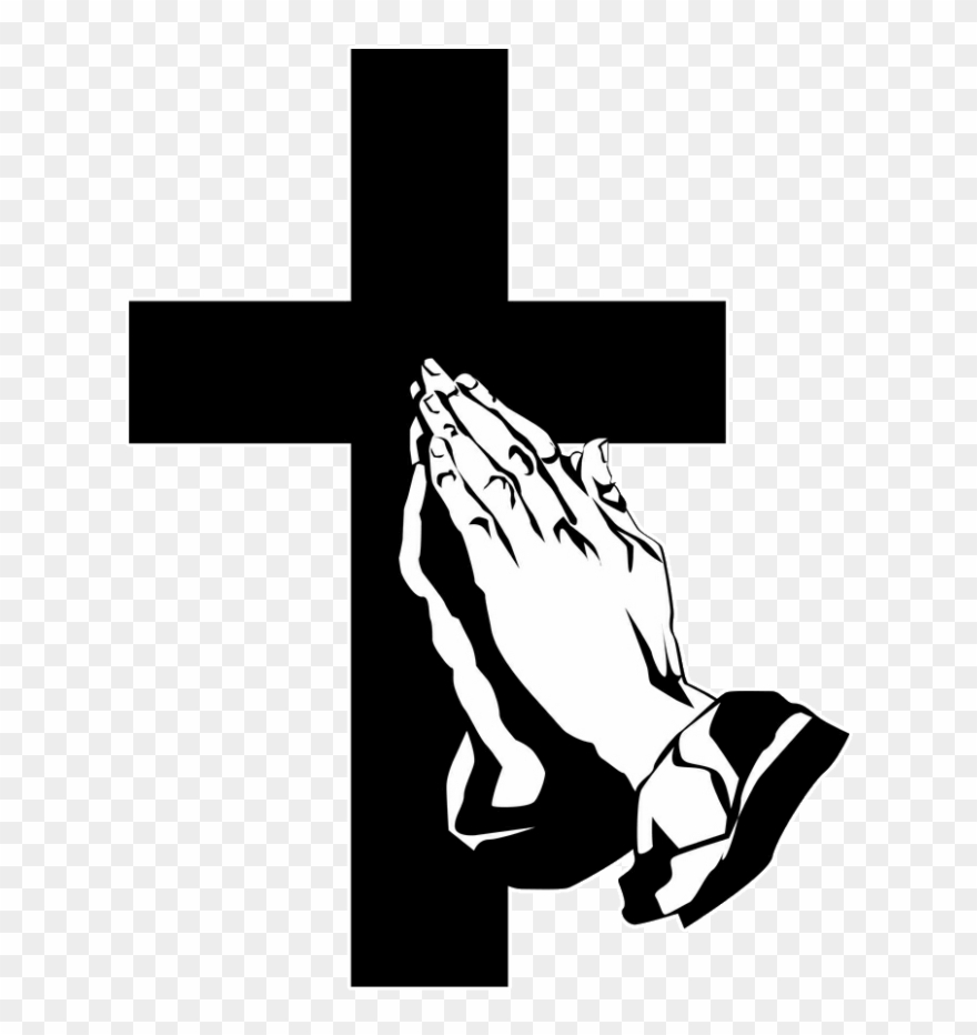 Hands in prayer with cross clipart png clip art download Funeral Clipart Prayer Hand - Praying Hands With Cross Clipart - Png ... clip art download